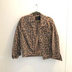 Blank NYC Catwalk Leopard-Print Trucker Jacket